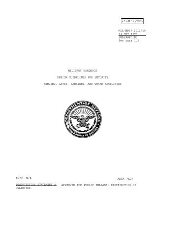 MIL-HDBK-1013/1A Design Guidelines for Physical Security