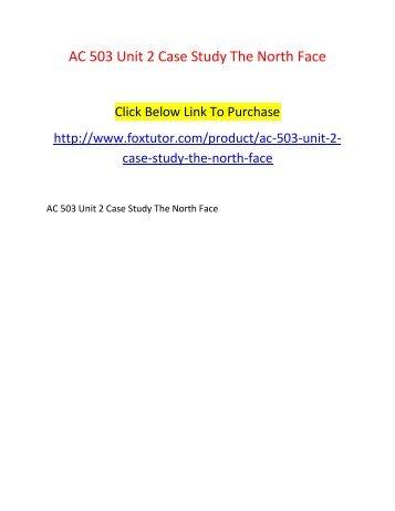 AC 503 Unit 2 Case Study The North Face
