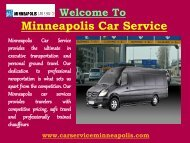 Airport Transfers Services in Minneapolis| Minneapolis Car Service