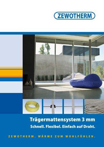 Trägermattensystem 3 mm - Zewotherm
