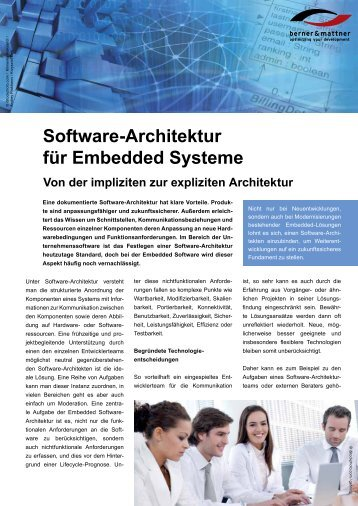 Software-Architektur für Embedded Systeme - Berner & Mattner