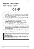 Sony VPCZ13V9R - VPCZ13V9R Documents de garantie Turc - Page 6