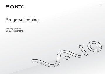 Sony VPCZ13V9R - VPCZ13V9R Mode d'emploi Danois