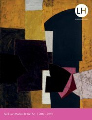 Books on Modern British Art   2012 – 2013 - Ashgate