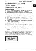 Sony VGN-AW3XRY - VGN-AW3XRY Documents de garantie Suédois - Page 5