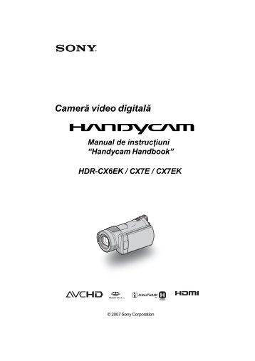 Sony HDR-CX7E - HDR-CX7E Mode d'emploi Roumain