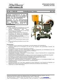 UP-Eindrahtschweißen Draht-Dm. bis 5 mm Art.-Nr. .11.303.105 ...