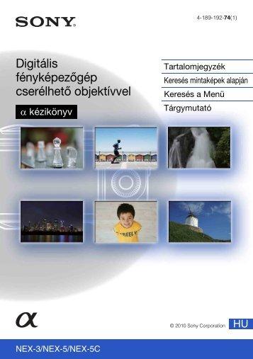 Sony NEX-5K - NEX-5K Guide pratique Hongrois