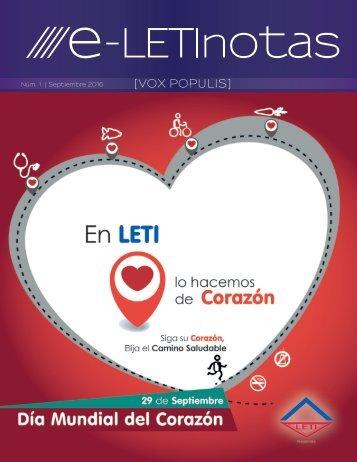 1 ° edición de e-LetiNotas