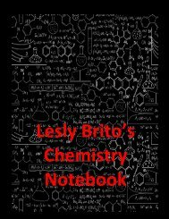 Chemistry Notebook Brito