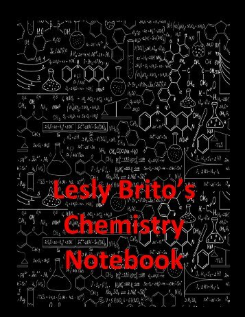 Chemistry Notebook Brito