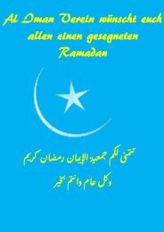 Al Iman Verein wünscht euch allen einen gesegneten