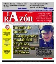 Diario La Razón jueves 25 de mayo de 2017