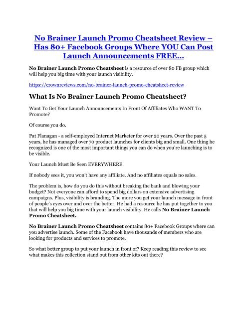No Brainer Launch Promo Cheatsheet Review-$32,400 bonus & discount