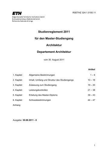Master studiengang plm forum 2011 for Studienplan architektur
