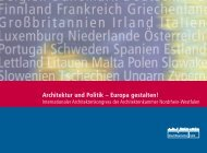 Architektur und Politik - Landesinitiative StadtBauKultur NRW