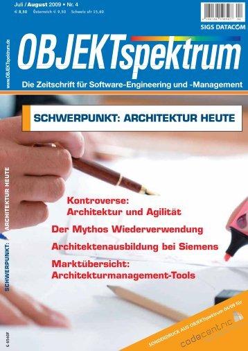 SCHWERPUNKT: ARCHITEKTUR HEUTE