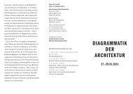 Diagrammatik Der architektur - Internationales Kolleg Morphomata ...