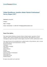 Global Healthcare Assistive Robot Market Professional Survey Report 2017