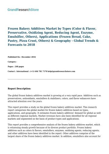 frozen bakery additives market worth 1 46