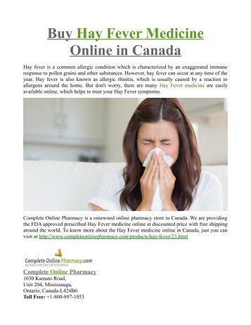 Buy Hay Fever Medicine Online in Canada