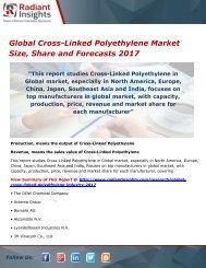 Global Cross-Linked Polyethylene Market Analysis and Outlook 2017