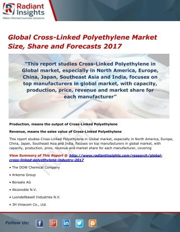 global cross linked polyacrylate potassium market research Global cross-linked polyacrylate potassium industry is an accurate and quality research study on the global cross-linked polyacrylate potassium market this report is based on the briefings and interviews conducted with product manufacturers and their consumers, with demand-side research.
