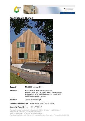 Wohnhaus in Glatten - Bauen und Wohnen