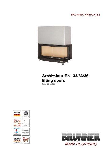 Architektur-Eck 38/86/36 lifting doors made in germany - Brunner