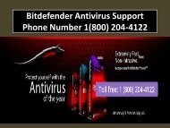 Bitdefender Antivirus Support Phone Number 1(800) 204-4122