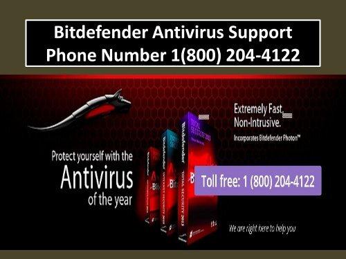 Bitdefender Antivirus Support Phone Number 1(800) 204-4122