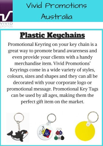 Logo Imprinted Plastic Keychains | Vivid Promotions