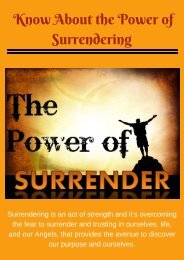 Know About the Power of Surrendering