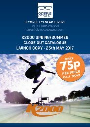 K2000 2017 Spring/Summer Close Out Catalogue Launch Copy