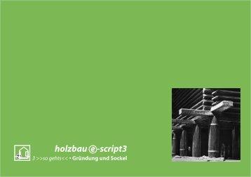 holzbau e -script3 - Entwerfen und Grundlagen der ...