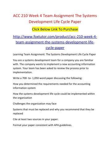 Systems Development Life Cycle Essays (Examples)