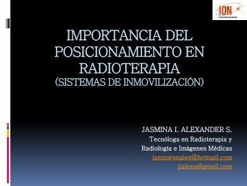 IMPORTANCIA DEL POSICIONAMIENTO EN RADIOTERAPIA