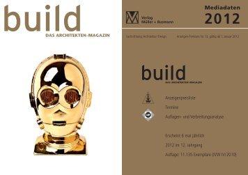 build_Mediadaten 2012 - build Das Architekten-Magazin