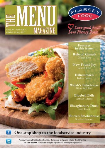 PLassey Food The Menu Magazine - April/May 2017