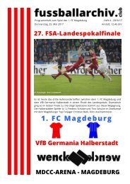 Programmheft 27. FSA-Landespokalfinale 1. FC Magdeburg - VfB Germania Halberstadt