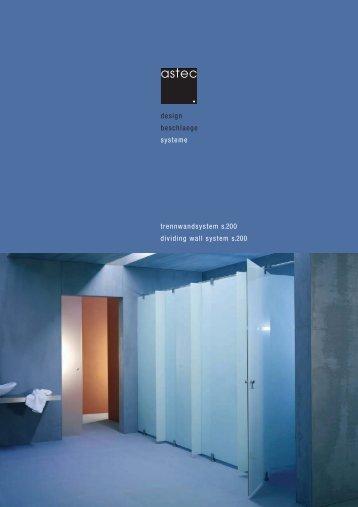 design beschlaege systeme trennwandsystem s.200 dividing wall ...