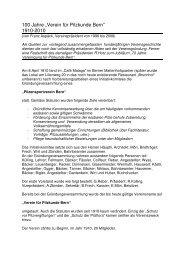 Die Vereinsgeschichte herunterladen und drucken - Pilzverein Bern