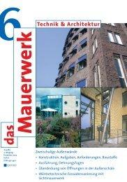 Technik & Architektur: das Mauerwerk - Fachverband der ...