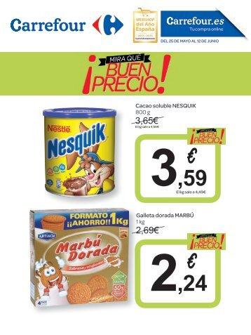 Catálogo Carrefour ¡mira qué buen precio! del  25 de Mayo al 12 de Junio 2017