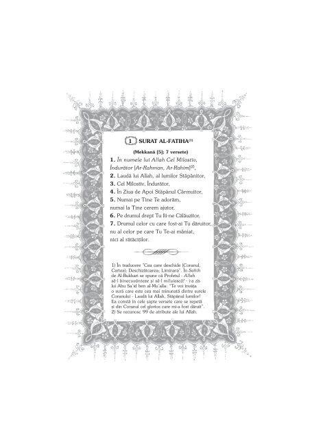 Romanian translation of the Quran