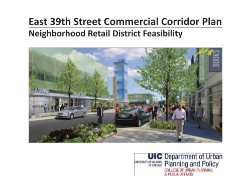 East 39th Street Commercial Corridor Plan by Chris Devins
