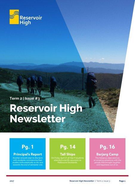 Reservoir High Newsletter 2017 term 2 Issue 3