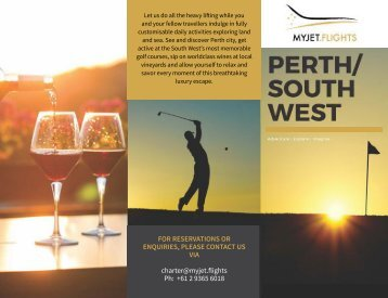 MYJET.FLIGHTS WA Golf Brochure