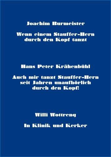 Joachim Burmeister Wenn einem Stauffer-Bern ... - Stauffer-Bern.ch