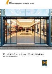 Produktinformationen für Architekten - Hörmann KG